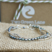 grey beaded and pearl bracelet 2