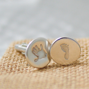 hand and footprint cufflinks 2