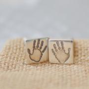 handprint cufflinks 2