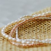 pink and grey pearl bracelet 1