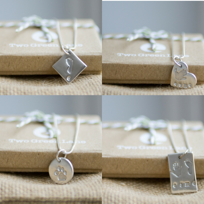 Hand, Foot and paw print charm
